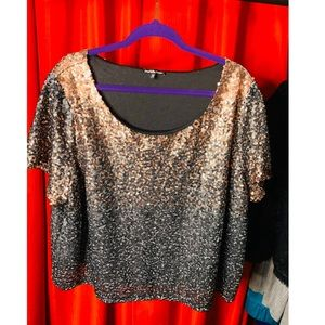 Two tone Sequin shirt